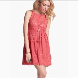 Free People Rocco Lace Overlay Dress